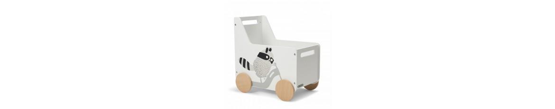 Drewniane skrzynie na zabawki na kółkach | Sklep Kubuś